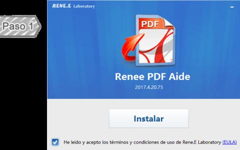 Instalar Renee PDF Aide