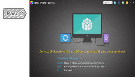 Conectar su dispositivo iOS al PC