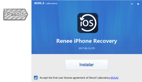 Instalar Renee iPhone Recovery