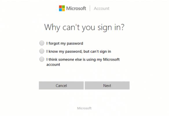 el servicio de Microsoft account