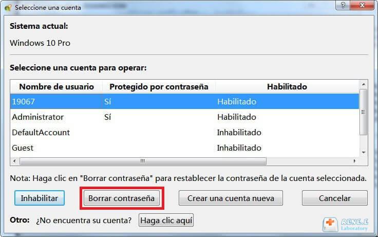 elimine la contraseña de cuenta de Microsoft de Windows 10