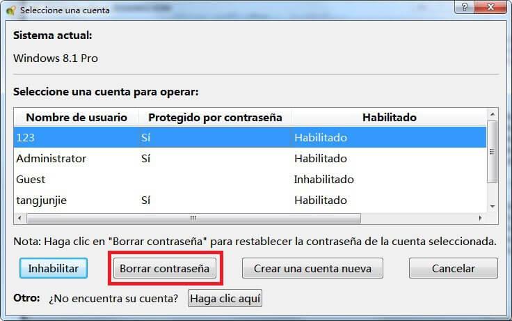 elimine la contraseña de cuenta de Microsoft de Windows 8