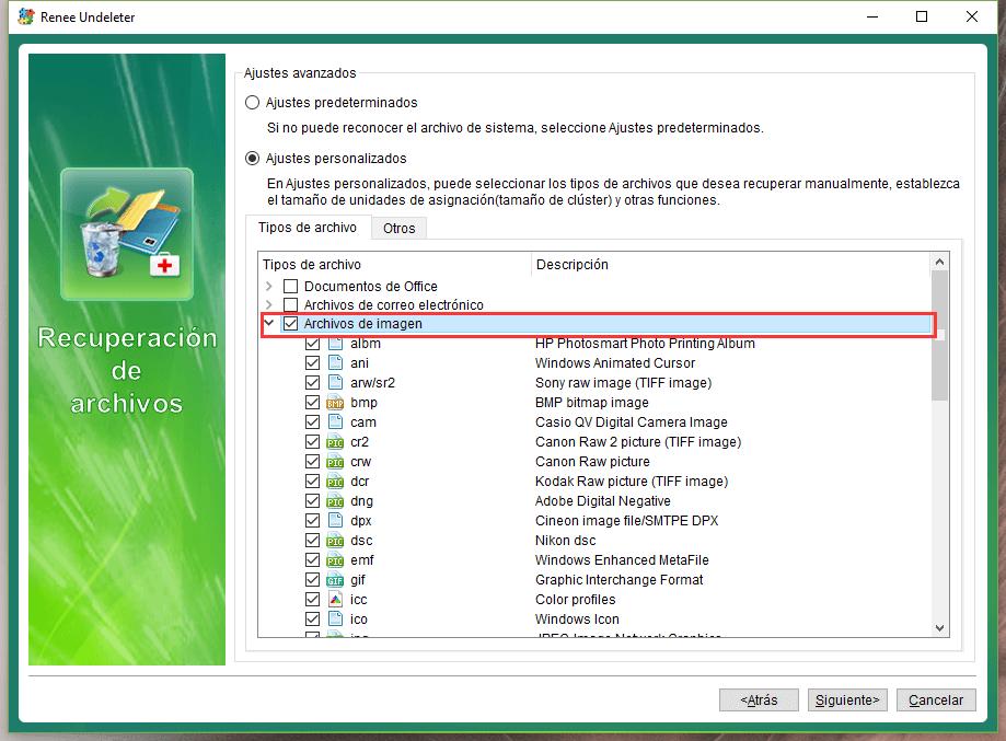 elegir los archivos de imagen