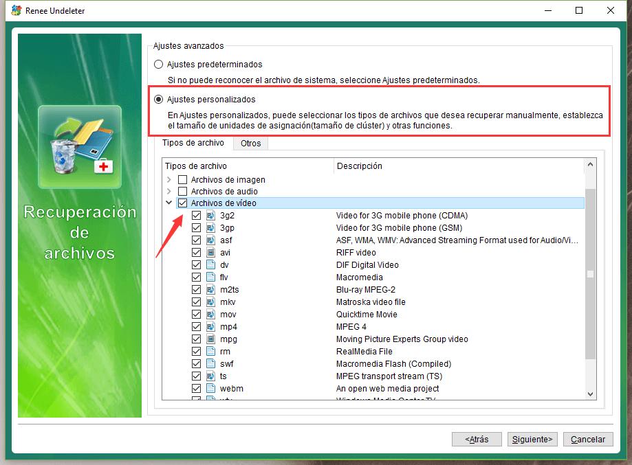 seleccionar los archivos de vídeo
