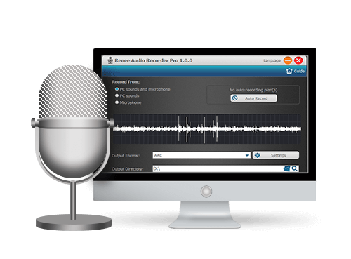 grabar audios con Renee Audio Recorder