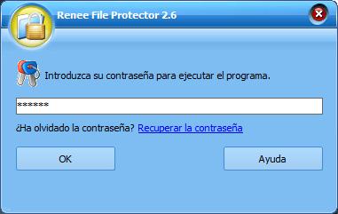 Iniciar sesión con contrase;a para activar Renee File Protector