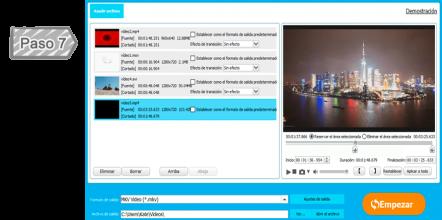 Unir varios archivos de vídeo en uno completo