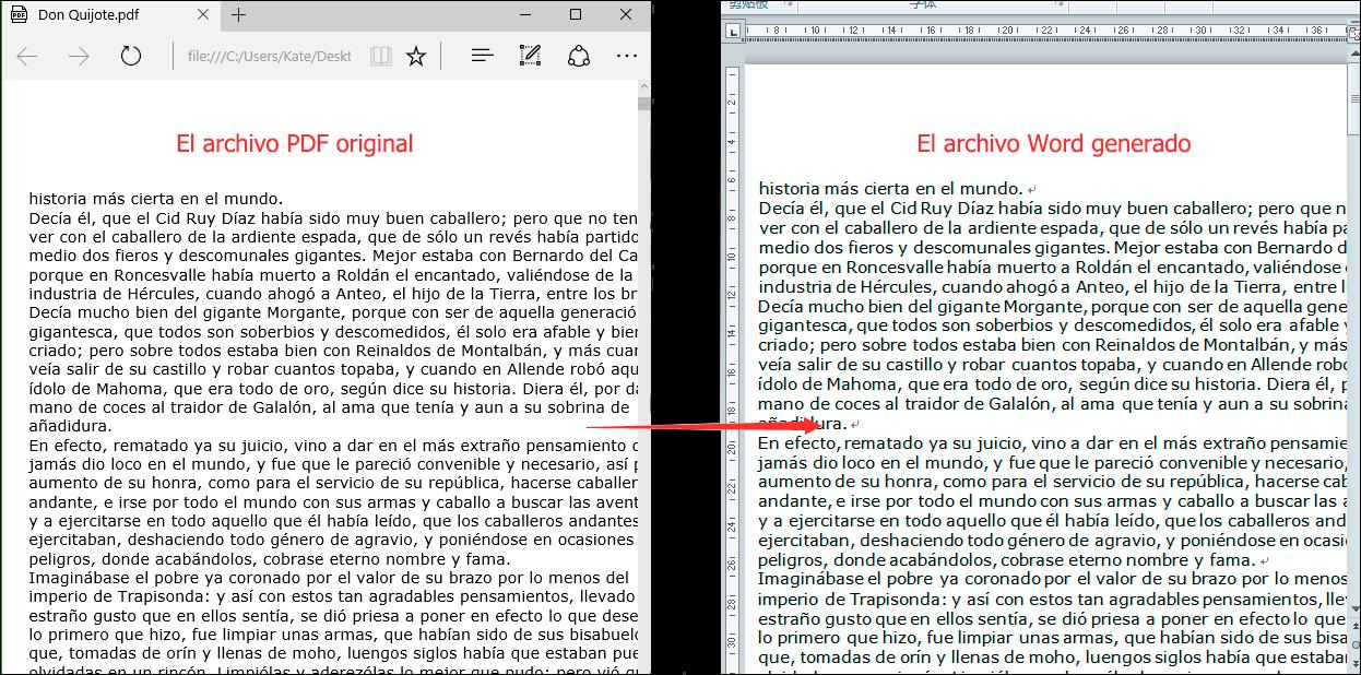 revisar los archivos Word generados en la carpeta seleccionada