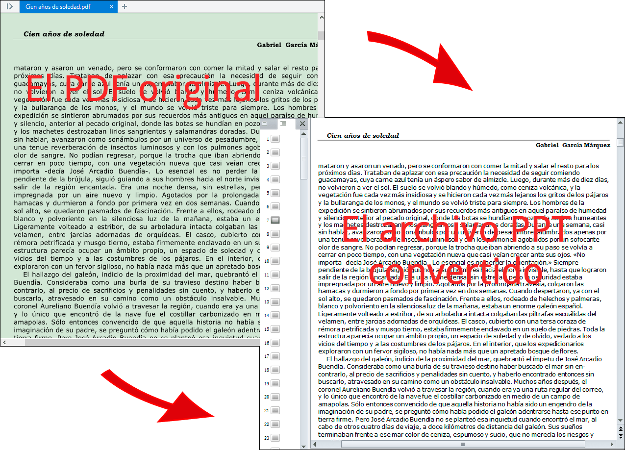 revisar los archivos PPT generados