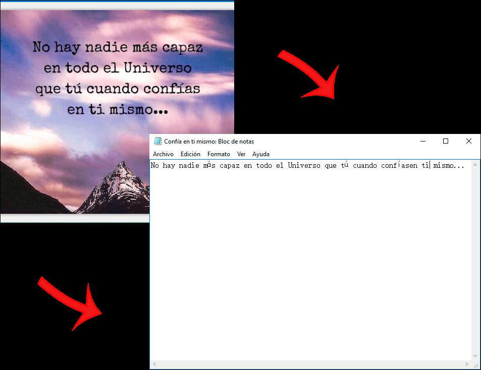 revisar los archivos convertidos en la ubicación seleccionada