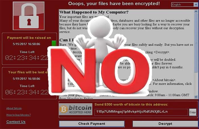 say no to wannacry ransomware