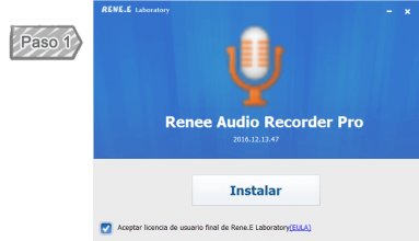 Descargar gratis Renee Audio Recorder Pro y instalarlo en su PC