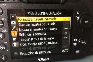 Formatear tarjeta de memoria