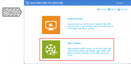 Seleccionar Video Toolbox