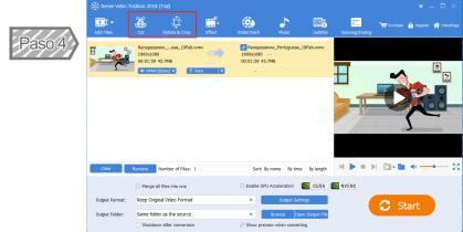 Recortar y rotar vídeos y audios según sus requerimientos