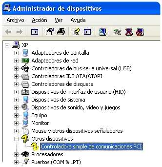 controdadora simple de comunicaciones PCI