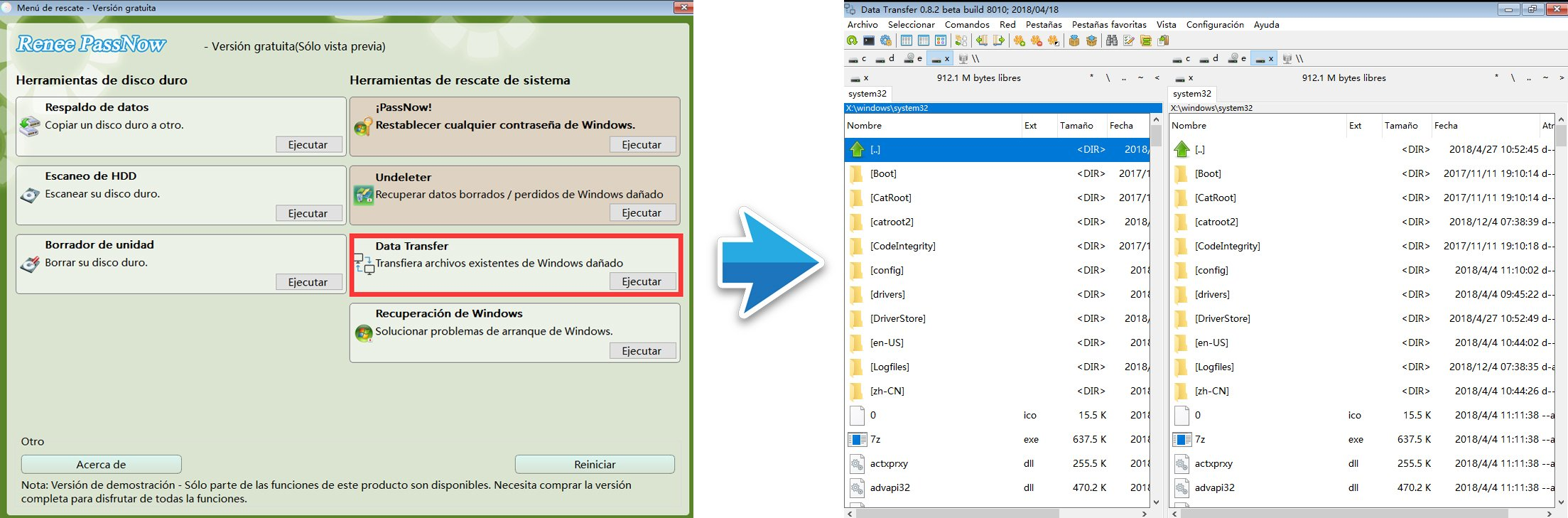 Software de transferencia de datos