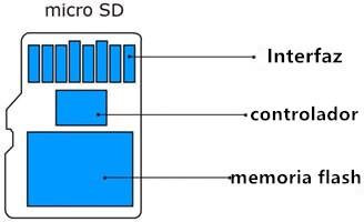 la estructura de tarjeta sd