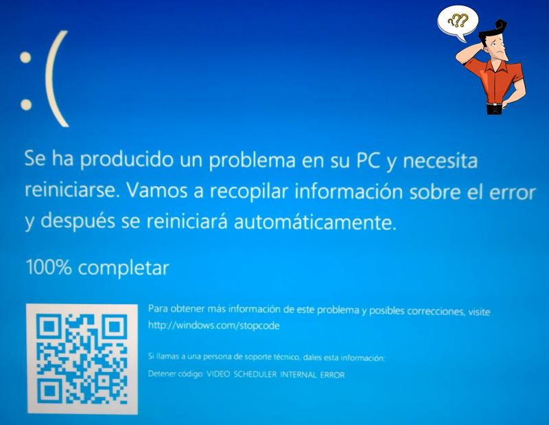 error de pantalla azul
