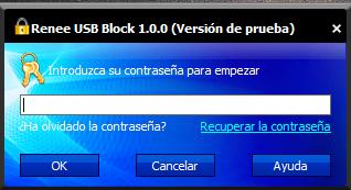 usb block contraseña