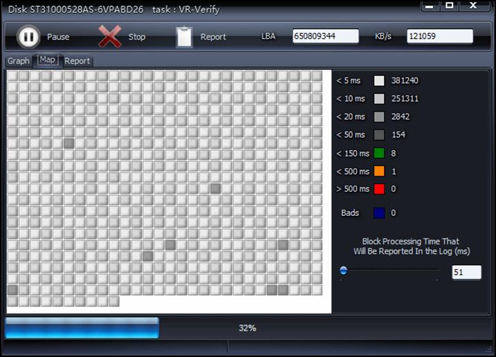 herramienta de detección de disco duro HDD-SCAN