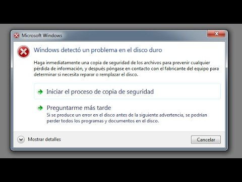 windows detectó un problema
