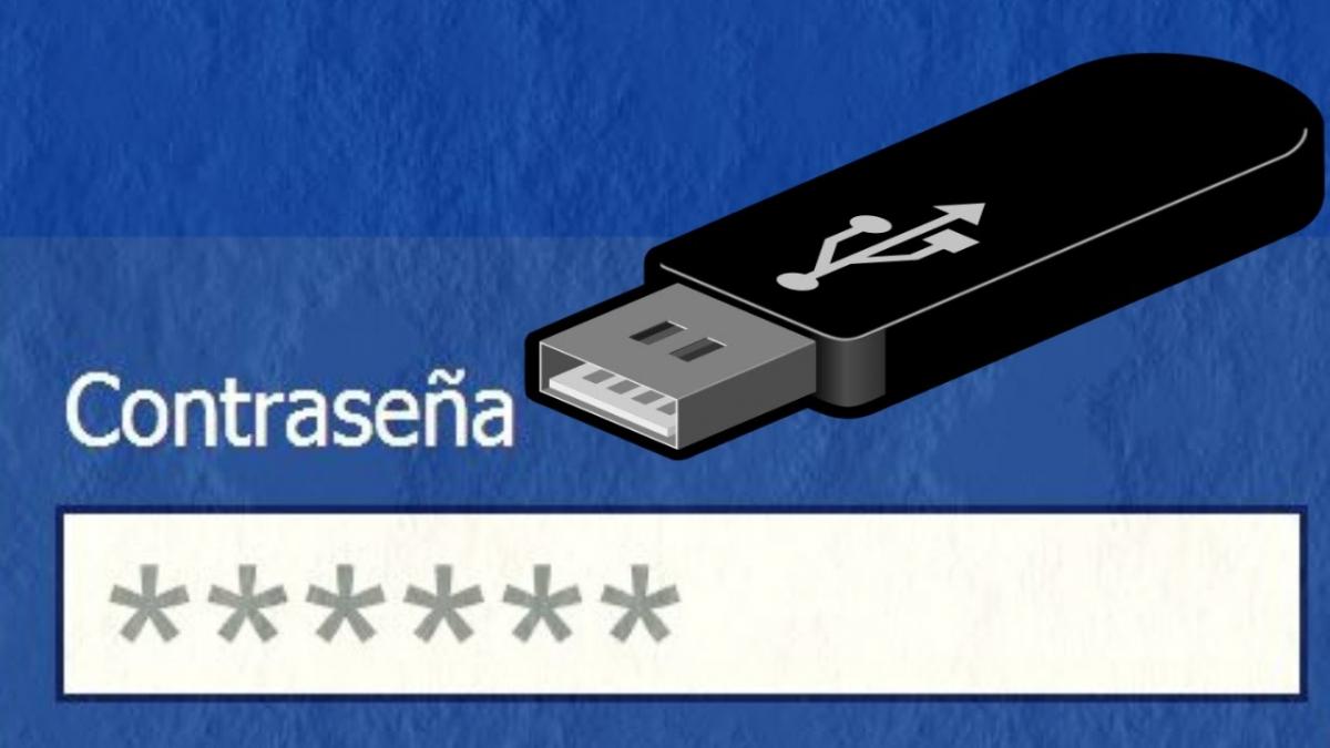 contraseña de memoria USB