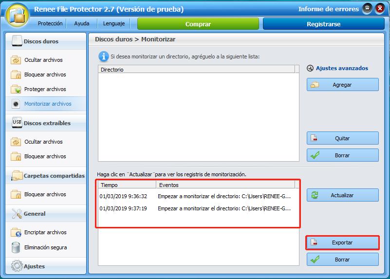 file protector monitorizar archivos