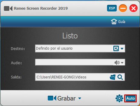 abrir Renee Screen Recorder