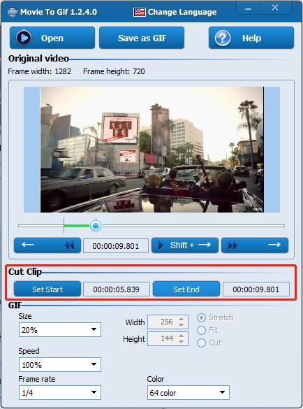 seleccionar archivo en Movie To GIF