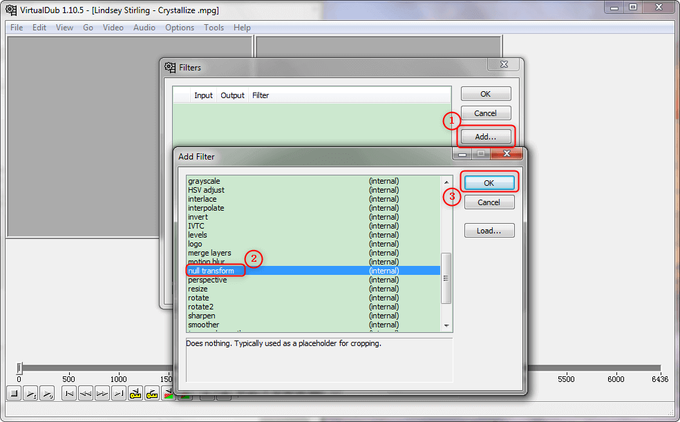utilizar VirtualDub para eliminar margenes negros de vídeos