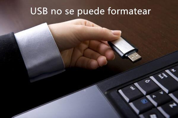 USB no se puede formatear