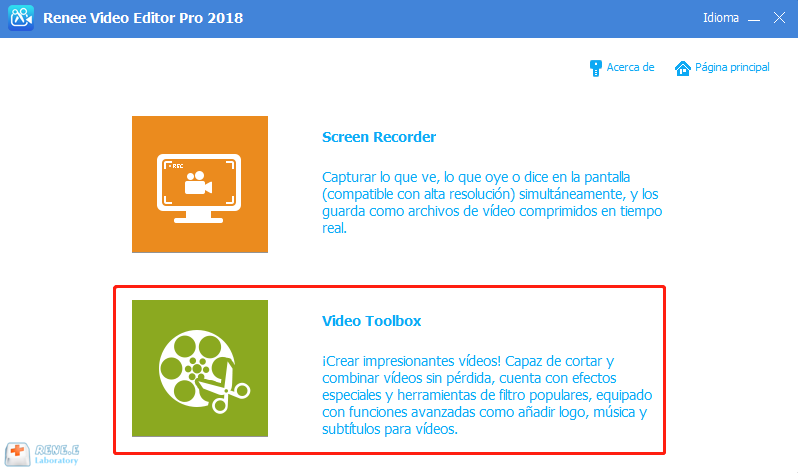 editar video con renee video editor pro