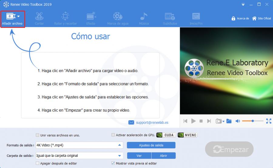 añadir archivo en video editor pro