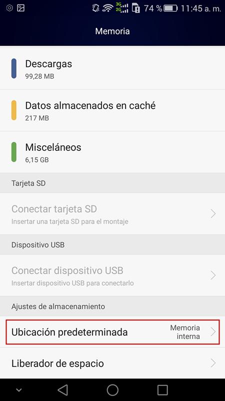 guarder fotos de WhatsApp en tarjeta SD