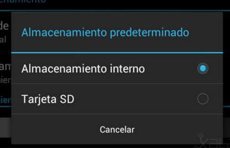 seleccionar tarjeta sd en Samsung