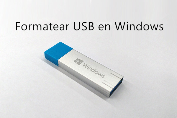 cómo formatear usb en windows