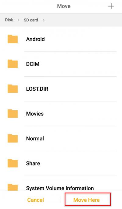 mover datos de memoria interna a tarjeta sd