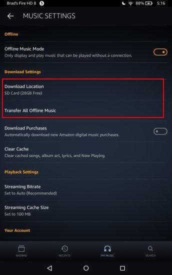 Transferir / guardar músicas en la tarjeta SD