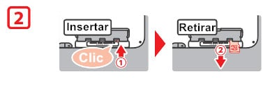 Reinsertar la tarjeta SD de Nintendo 3DS
