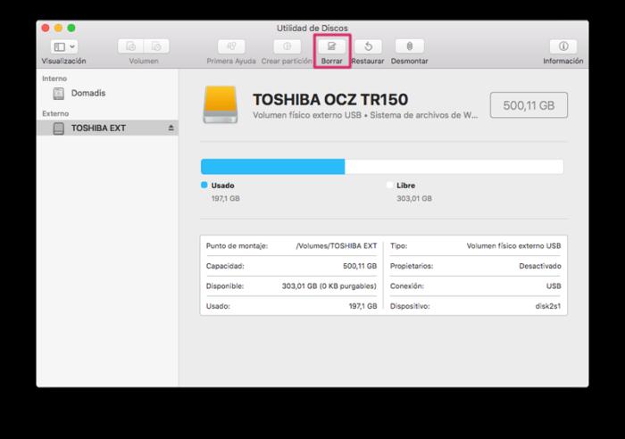 ¿Cómo formatear la tarjeta SD en Mac?