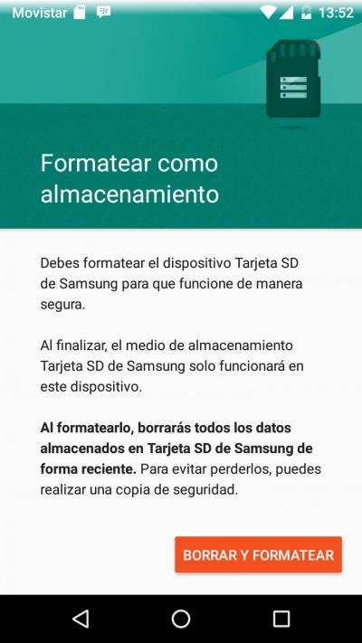 Cómo cambiar almacenamiento interno a tarjeta SD de Android