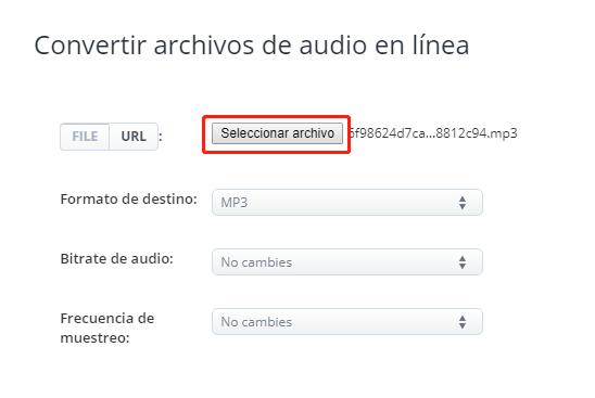 unir varios archivos MP3 con Aconvert
