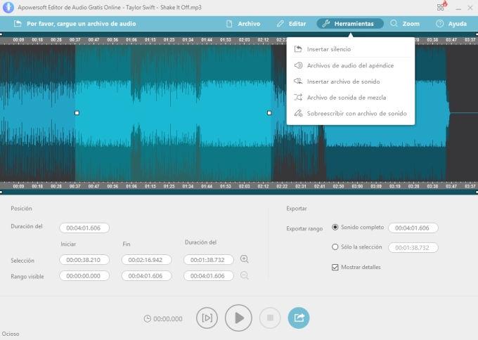 Apowersoft:: aplicación para cortar musica