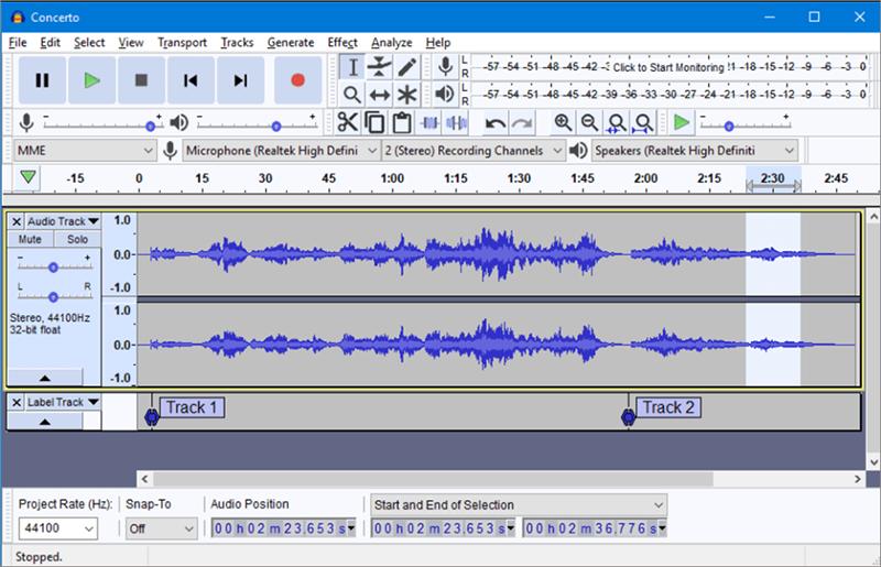 Audacity: aplicación para cortar musica