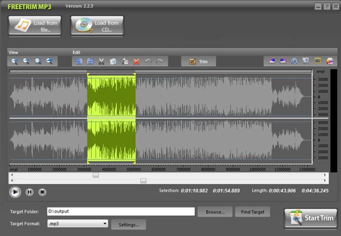 FreeTrim MP3: Programa gratuito para editar MP3 en Windows
