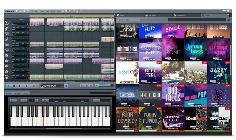 MAGIX: aplicación para cortar musica