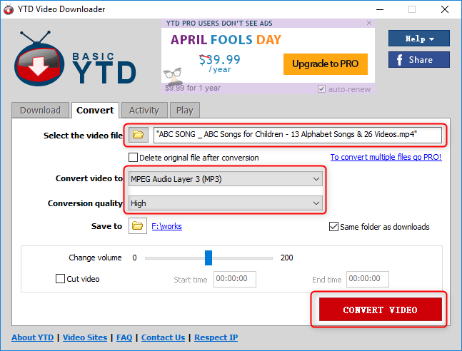 convertir youtube a mp3 con YTD Video Downloader