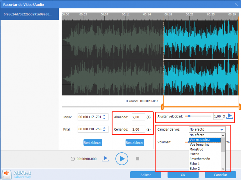 Renee audio tools: Programa gratuito para editar MP3 en Windows