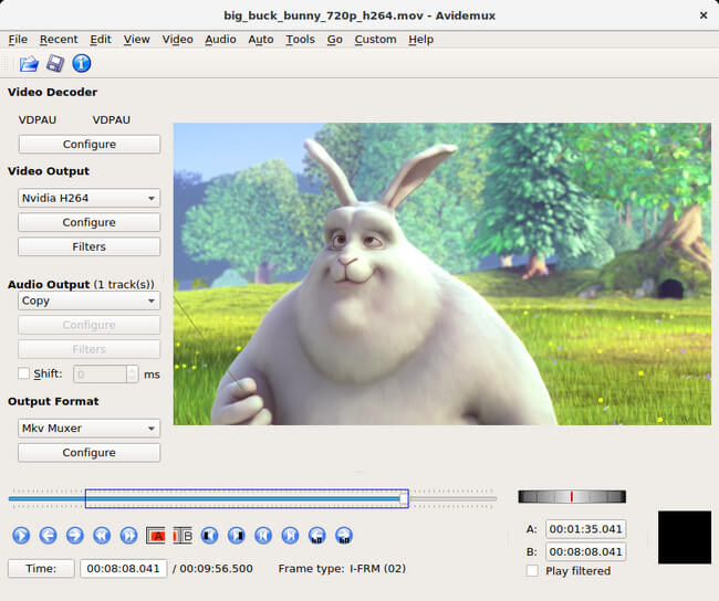 avidemux:programa para cortar videos